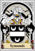 English Coat of Arms Bookplate for Symonds