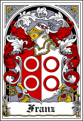 German Wappen Coat of Arms Bookplate for Franz