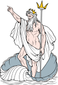 Gods and Goddesses Clipart image: Poseidon (version 2)