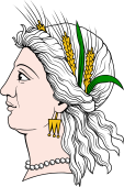 Gods and Goddesses Clipart image: Demeter Head in Profile
