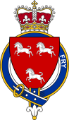 British Garter Coat of Arms for Fry (England)