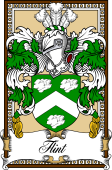 Scottish Coat of Arms Bookplate for Flint