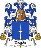 Coat of Arms from France for Dagès or Agès (d')