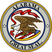 US State Seal for Alabama 1868