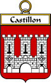French Coat of Arms Badge for Castillon