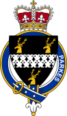 British Garter Coat of Arms for Parkes (England)