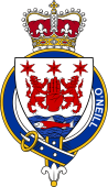 British Garter Coat of Arms for O'Neill (Ireland)