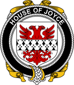 Irish Coat of Arms Badge for the JOYCE family