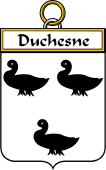 French Coat of Arms Badge for Duchesne