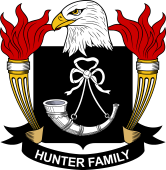 American Coat of Arms for Hunter