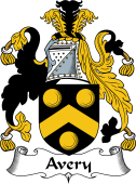 English Coat of Arms for Avery