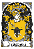 Polish Coat of Arms Bookplate for Izdebski