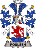 Danish Coat of Arms for Poulsen or Leuenbach