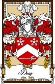 Scottish Coat of Arms Bookplate for Doeg