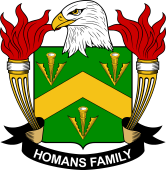 American Coat of Arms for Homans