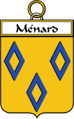 French Coat of Arms Badge for Ménard