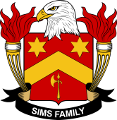 American Coat of Arms for Sims