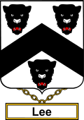 English Coat of Arms Shield Badge for Lee or Lea