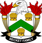 American Coat of Arms for Becket