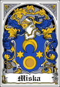 Polish Coat of Arms Bookplate for Miska