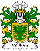 Welsh Coat of Arms for Wilkins (of Glamorgan)