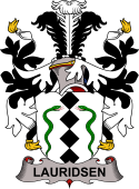Danish Coat of Arms for Lauridsen