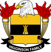 American Coat of Arms for Higginson