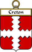 French Coat of Arms Badge for Creton