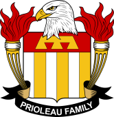 American Coat of Arms for Prioleau
