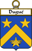 French Coat of Arms Badge for Dugué