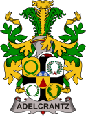 Swedish Coat of Arms for Adelcrantz