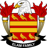 American Coat of Arms for Elam