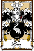 Scottish Coat of Arms Bookplate for Heron
