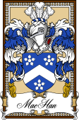 Scottish Coat of Arms Bookplate for MacHan
