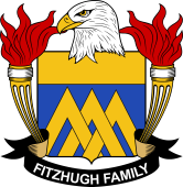 American Coat of Arms for Fitzhugh