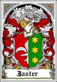 German Wappen Coat of Arms Bookplate for Jaster