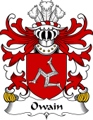 Welsh Coat of Arms for Owain (AP EDWIN, or Owen)