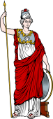 Gods and Goddesses Clipart image: Athena-Minerva