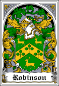 Irish Coat of Arms Bookplate for Robinson