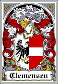 Danish Coat of Arms Bookplate for Clemensen