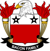 American Coat of Arms for Bacon