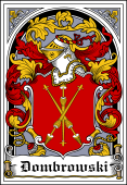 Polish Coat of Arms Bookplate for Dombrowski
