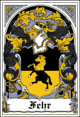 German Wappen Coat of Arms Bookplate for Fehr