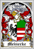 German Wappen Coat of Arms Bookplate for Meinecke