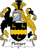 English Coat of Arms for Pledger