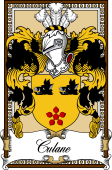 Scottish Coat of Arms Bookplate for Culane or Culline