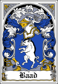 Danish Coat of Arms Bookplate for Baad