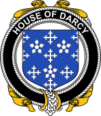 Irish Coat of Arms Badge for the DARCY family