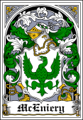 Irish Coat of Arms Bookplate for McEniery