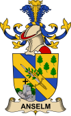Republic of Austria Coat of Arms for Anselm